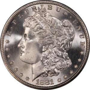 1881-S Morgan Silver Dollar MS-68