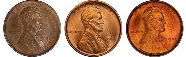 One of these Lincoln Wheat Cents is worth $30, one is worth $300, and one is worth $3000. Can you tell which is which just by looking at them? We can.
