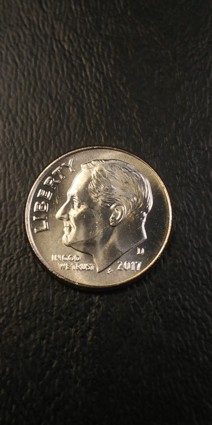 Coin Photography Set Up Results: 2017-D Roosevelt Dime, Obverse Picture #2
